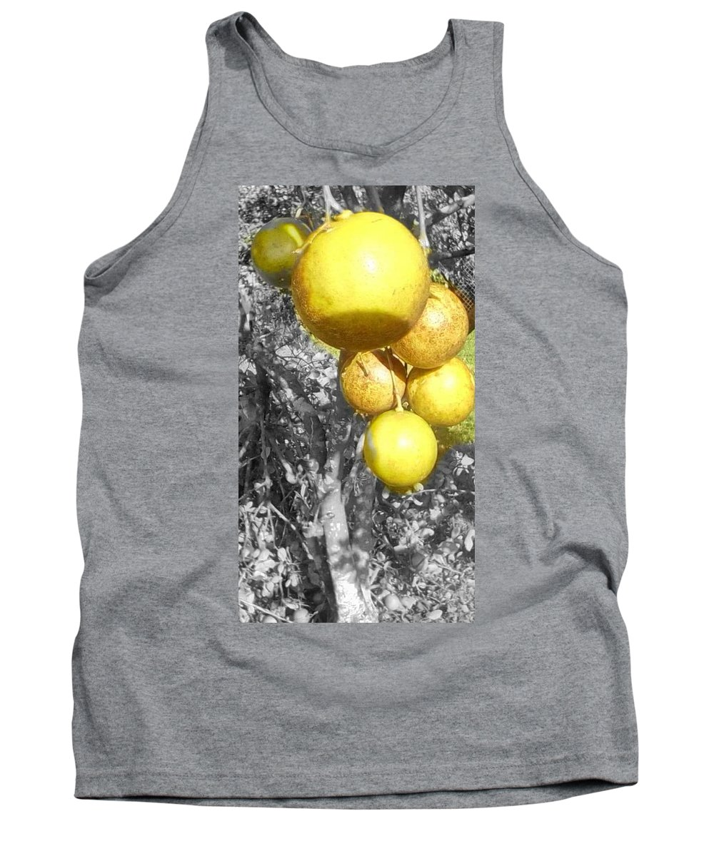 Lime Tank Top featuring the photograph Lime Tree by Brenda Plyer