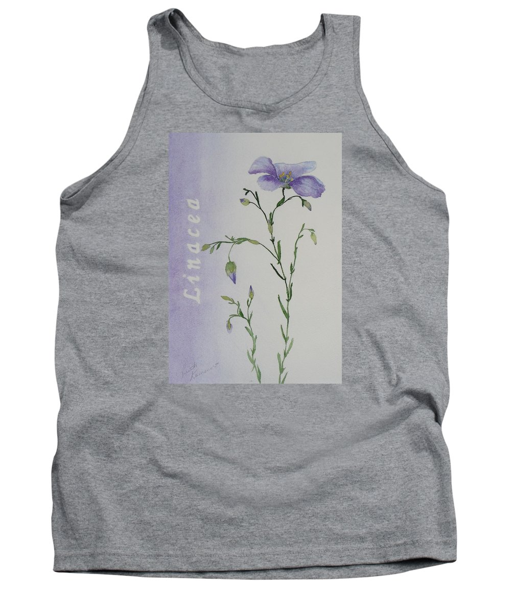 Flower Tank Top featuring the painting Linacea by Ruth Kamenev