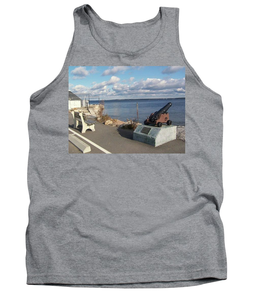 Lincolnville Tank Top featuring the photograph Lincolville Bench by Rebecca Sturm
