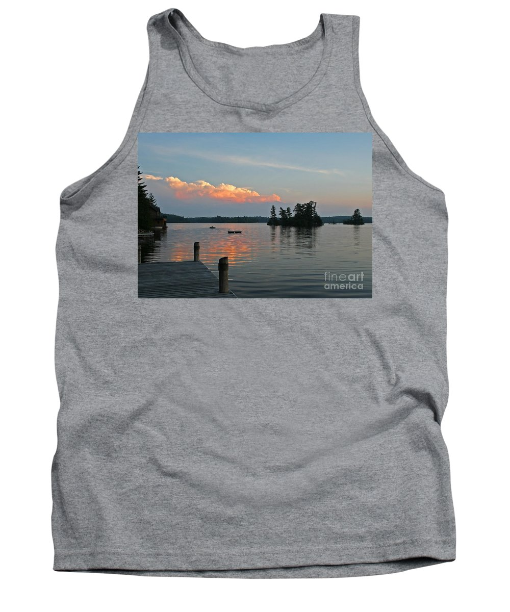 Little Bald Lake Tank Top featuring the photograph Little Bald Lake by Barbara McMahon