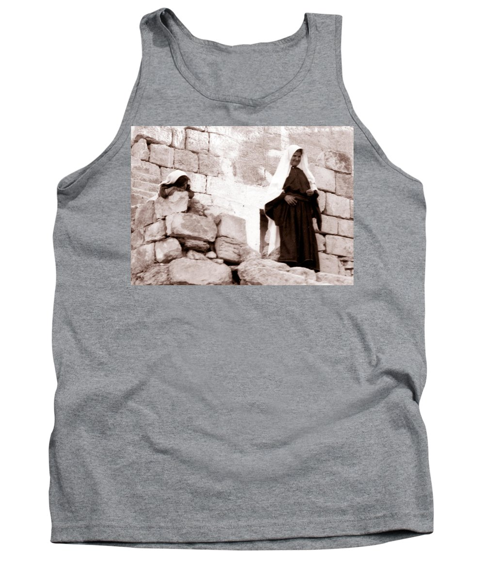 Bethlehem Tank Top featuring the photograph Little Girl In 1946 by Munir Alawi