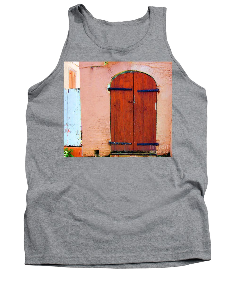 Door Tank Top featuring the photograph Little Pink House by Debbi Granruth