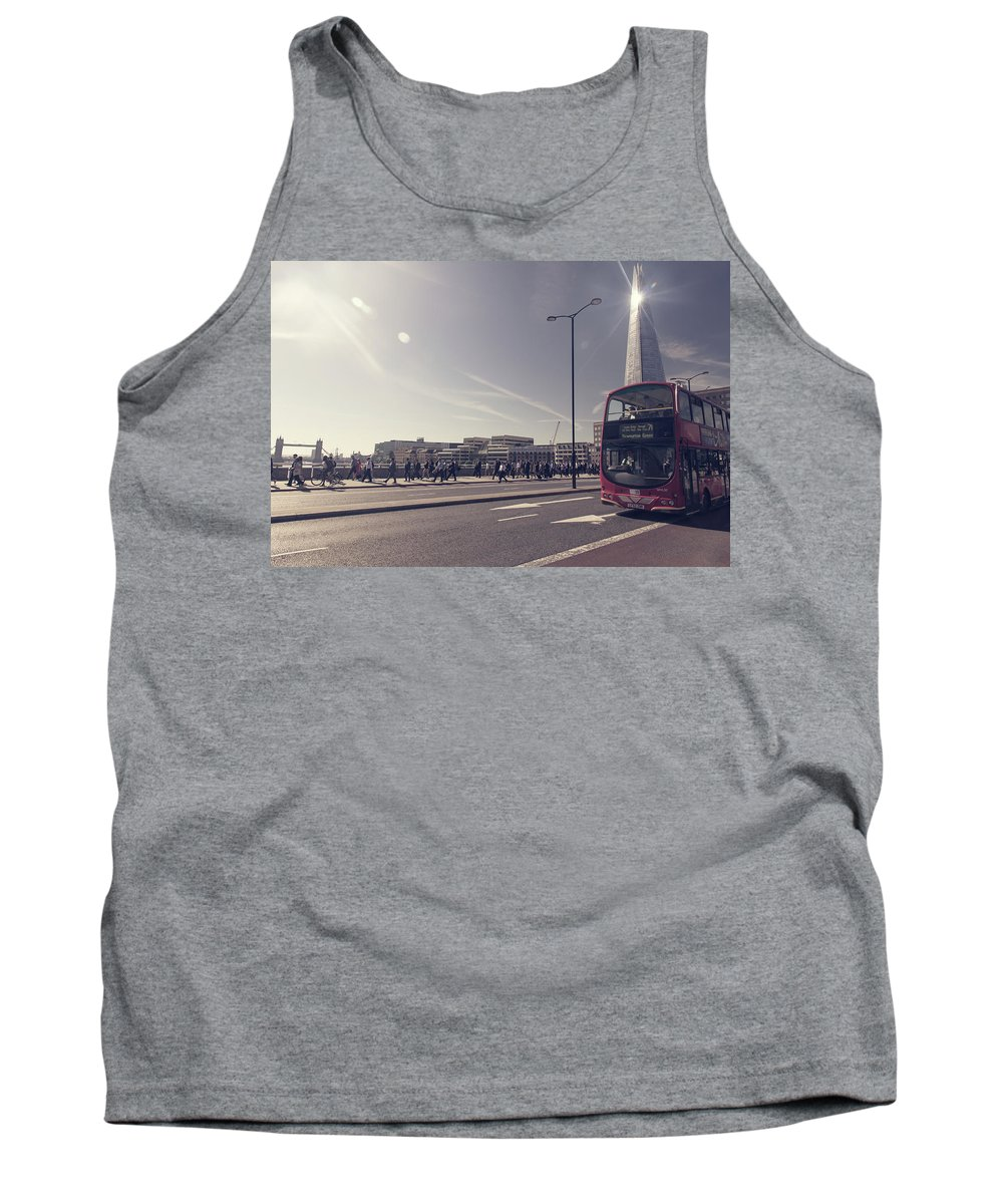 Sunlight Tank Top featuring the photograph London Bridge by Milton Cogheil