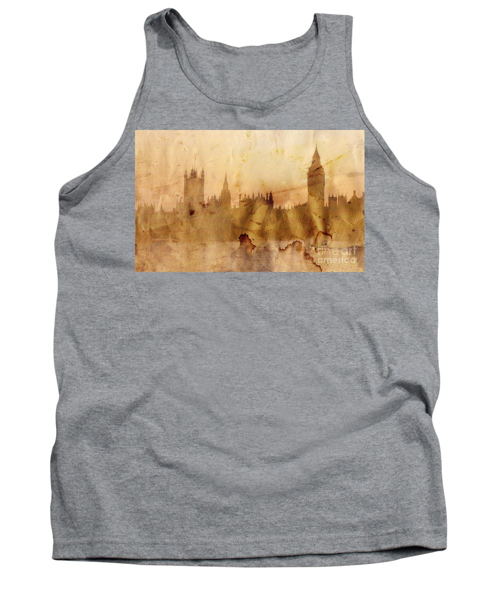 London Tank Top featuring the painting London by Michal Boubin