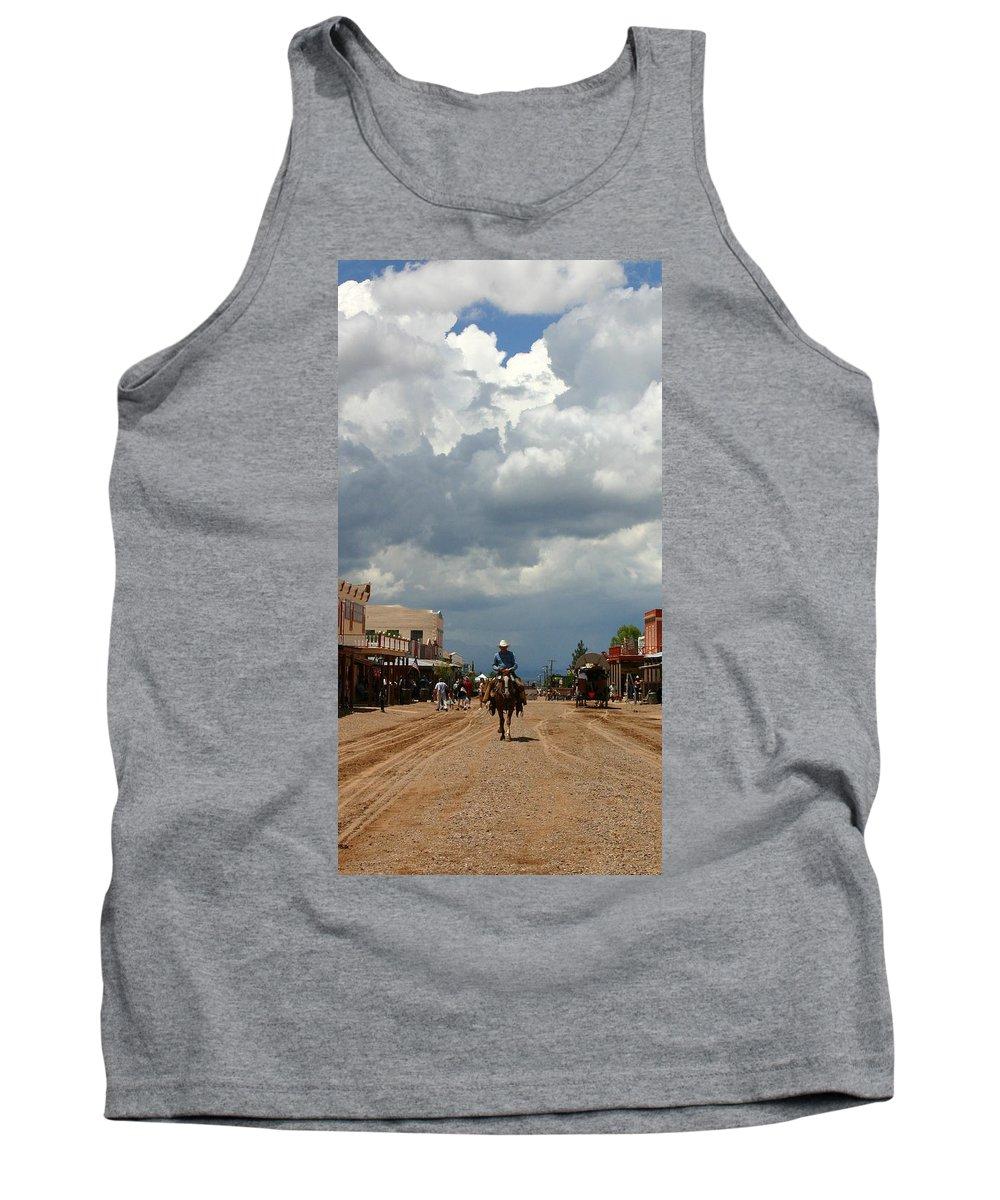 Arizona Tank Top featuring the photograph Lone Rider by Joe Kozlowski