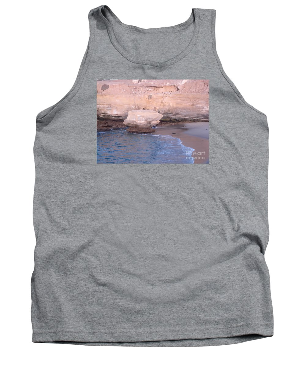 Ocean Tank Top featuring the photograph Lone Rock 2 by Madilyn Fox