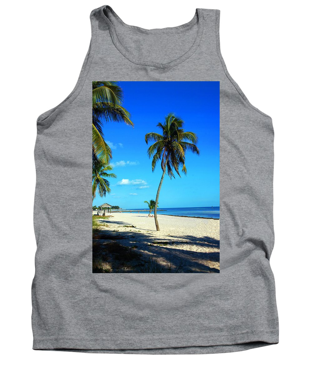 Palm Tree Tank Top featuring the photograph Lonely Palm by Susanne Van Hulst