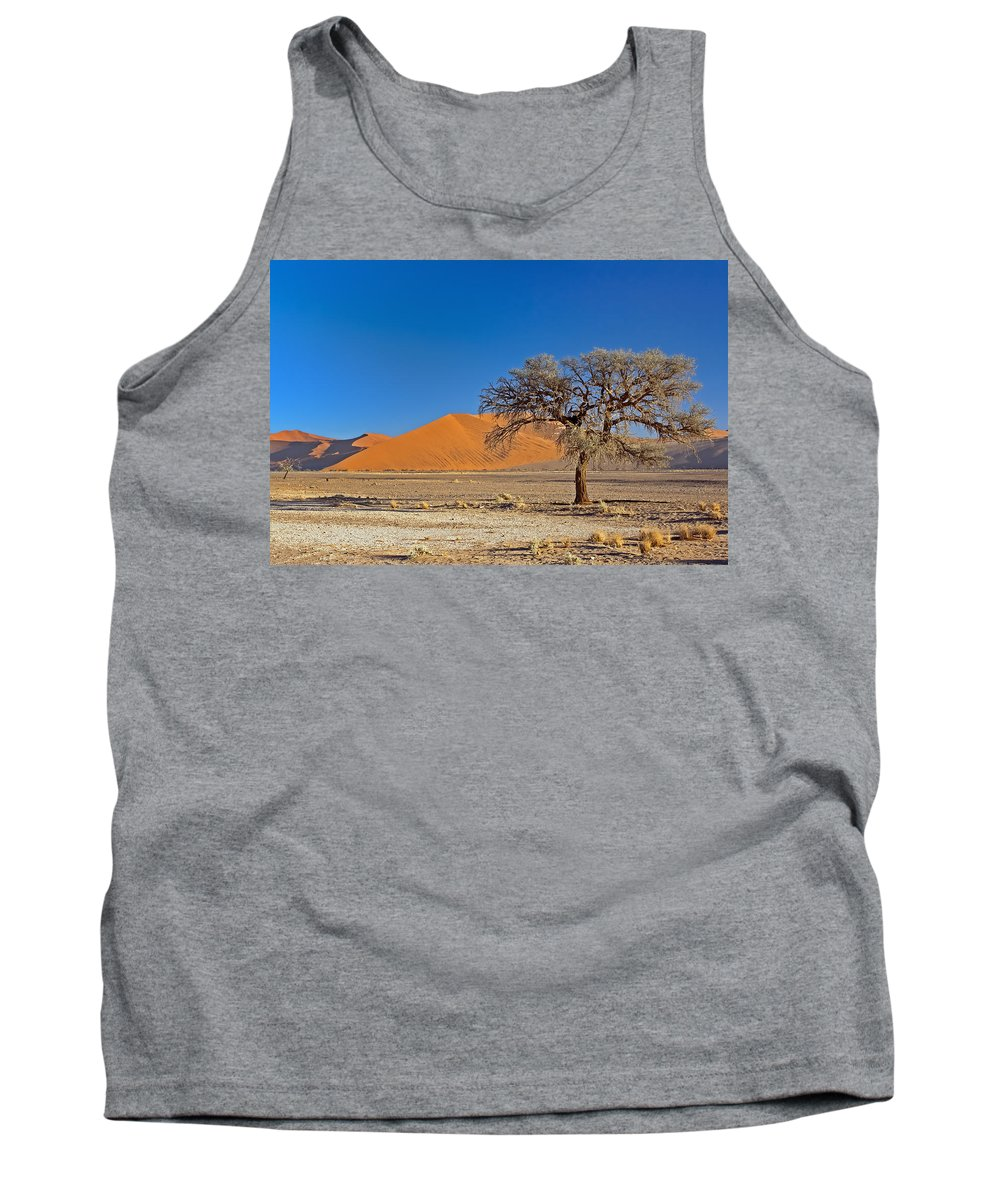 Lonely Tank Top featuring the photograph Lonely Tree In Sossusvlei by Aivar Mikko