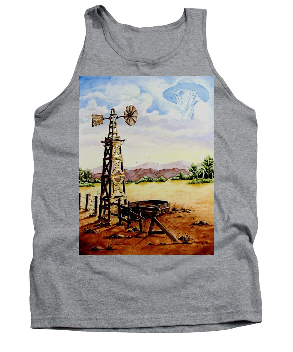 Actor Tank Top featuring the painting Lonesome Prairie by Jimmy Smith