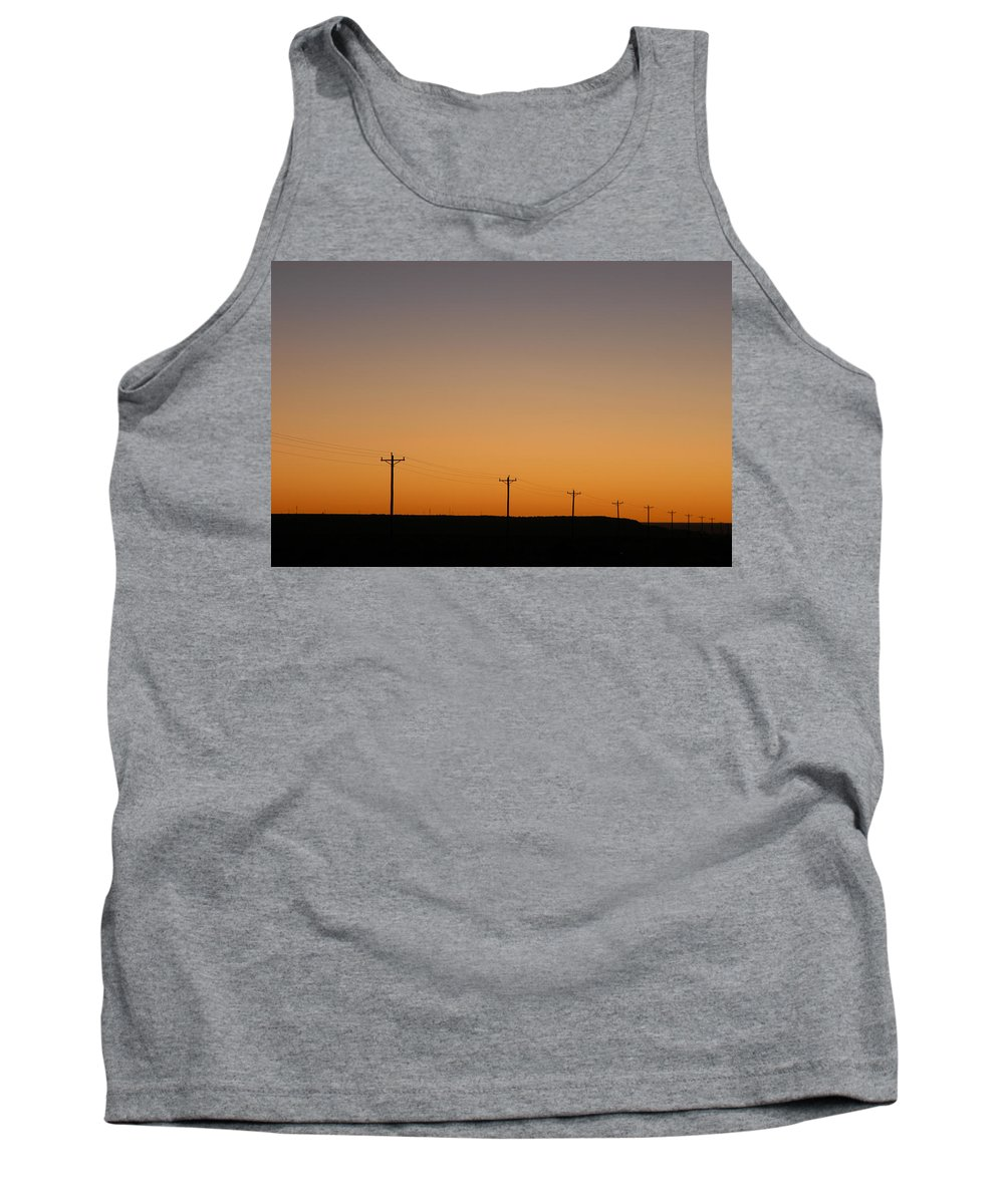 Sunset Tank Top featuring the photograph Lonesome Road - Wyoming by D'Arcy Evans