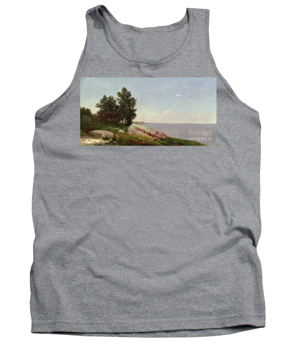 Long Island Sound At Darien (oil On Canvas) Long Island Sound At Darien (oil On Canvas) Tank Top featuring the painting Long Island Sound At Darien by John Frederick Kensett
