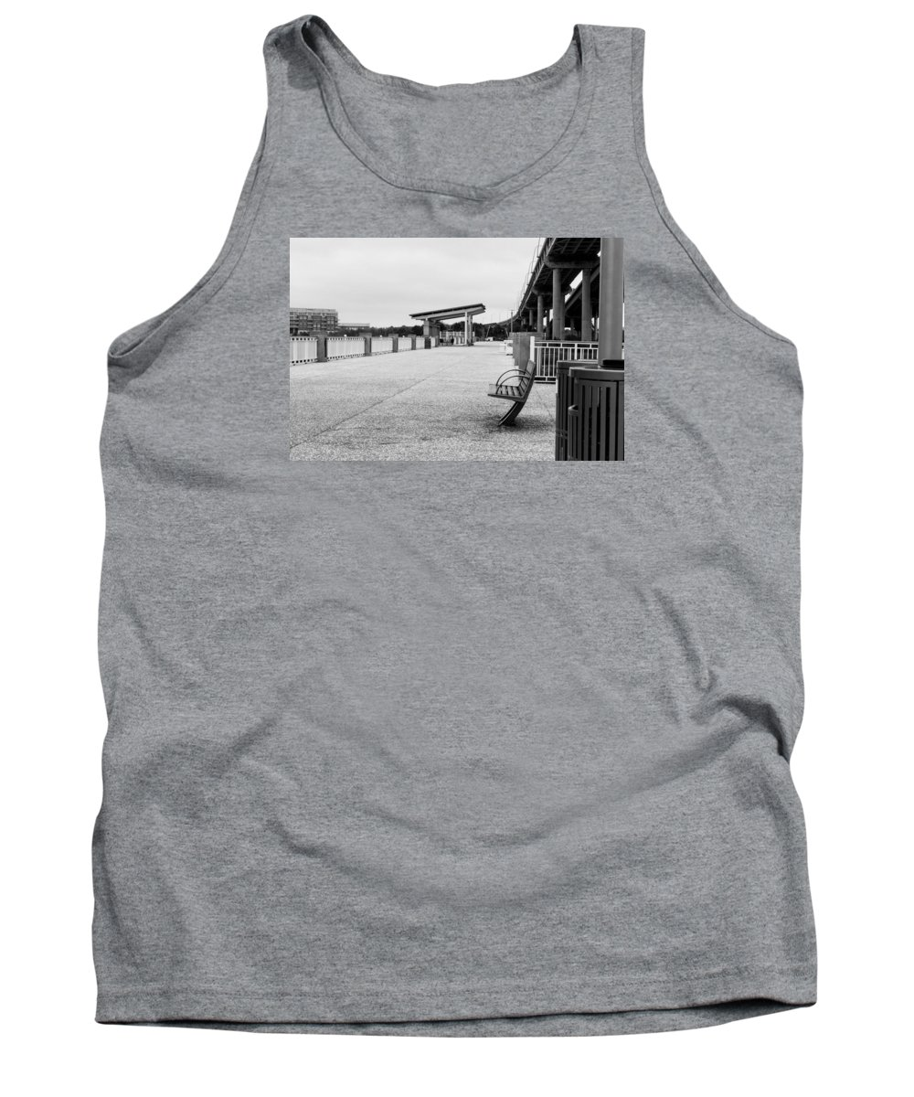Bench Tank Top featuring the photograph Lonly by Alexander Reed