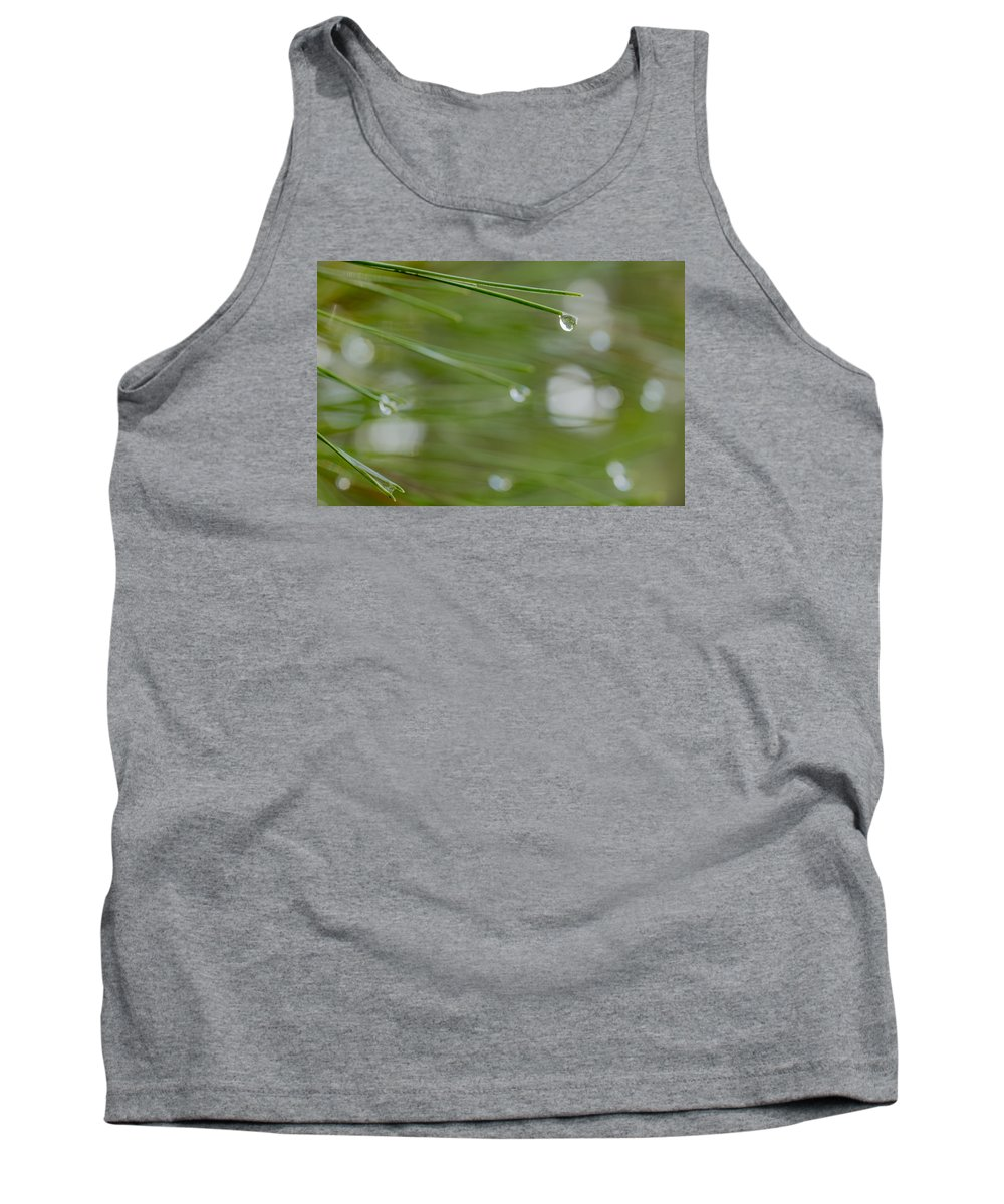 Look At The World Through Drop Tank Top featuring the photograph Look At The World Through Drop by Shay Weiss