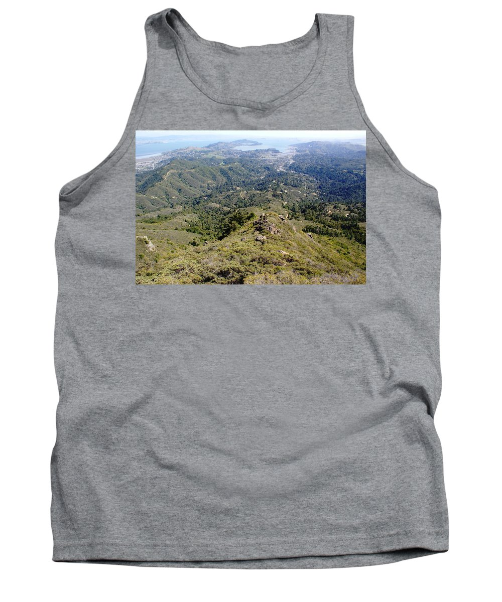 Mount Tamalpais Tank Top featuring the photograph Looking Down From The Top Of Mount Tamalpais 2 by Ben Upham III