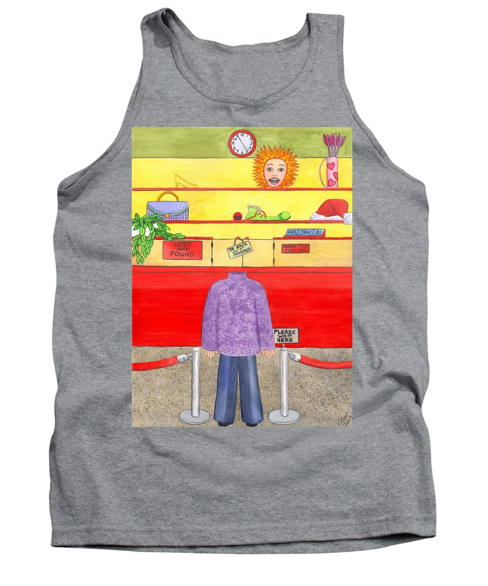 Humor Tank Top featuring the painting Lose Something by Catherine G McElroy