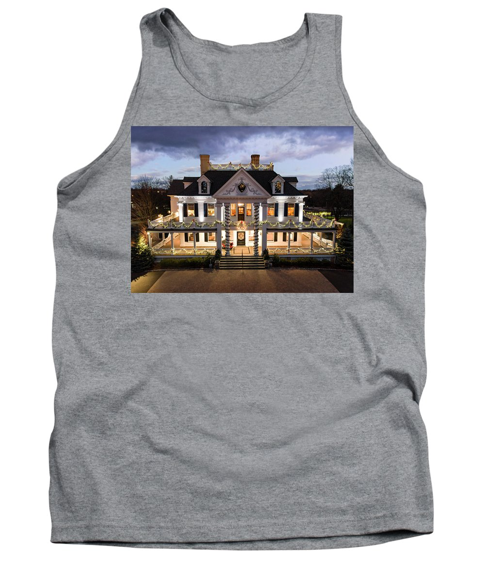 Ridgefield Tank Top featuring the photograph Lounsbury House by Sean McEvoy