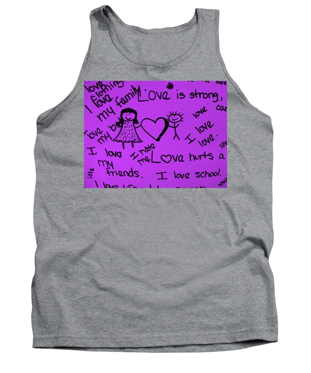 Still Life Tank Top featuring the photograph Love by Ed Smith