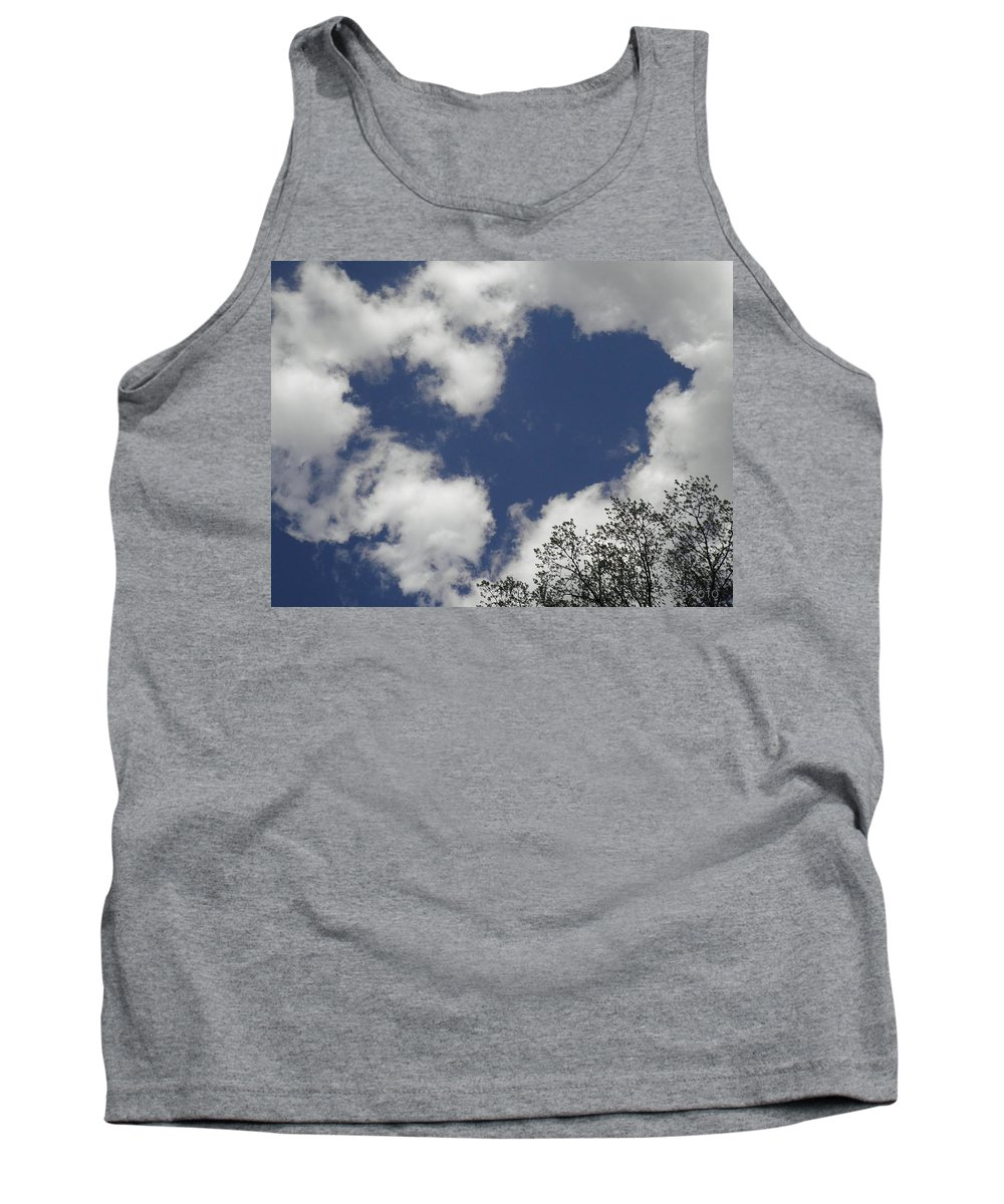 Sky Tank Top featuring the photograph Love From Above by T Cook