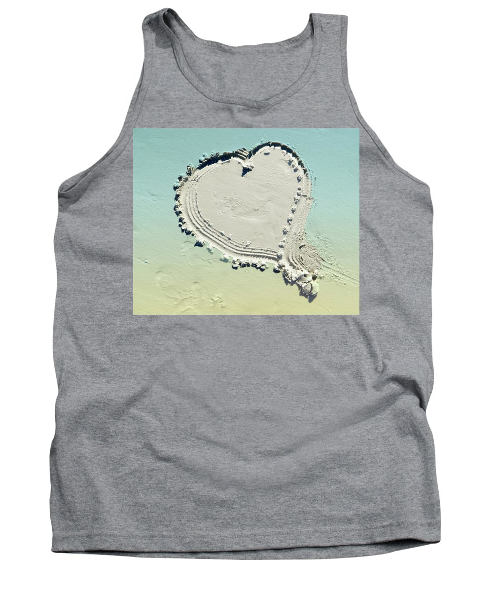 Love In The Sand Tank Top featuring the photograph Love In The Sand by Emmy Vickers