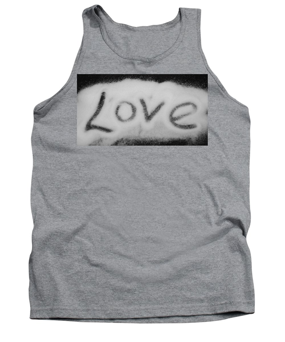 Black And White Tank Top featuring the photograph Love by Rob Hans