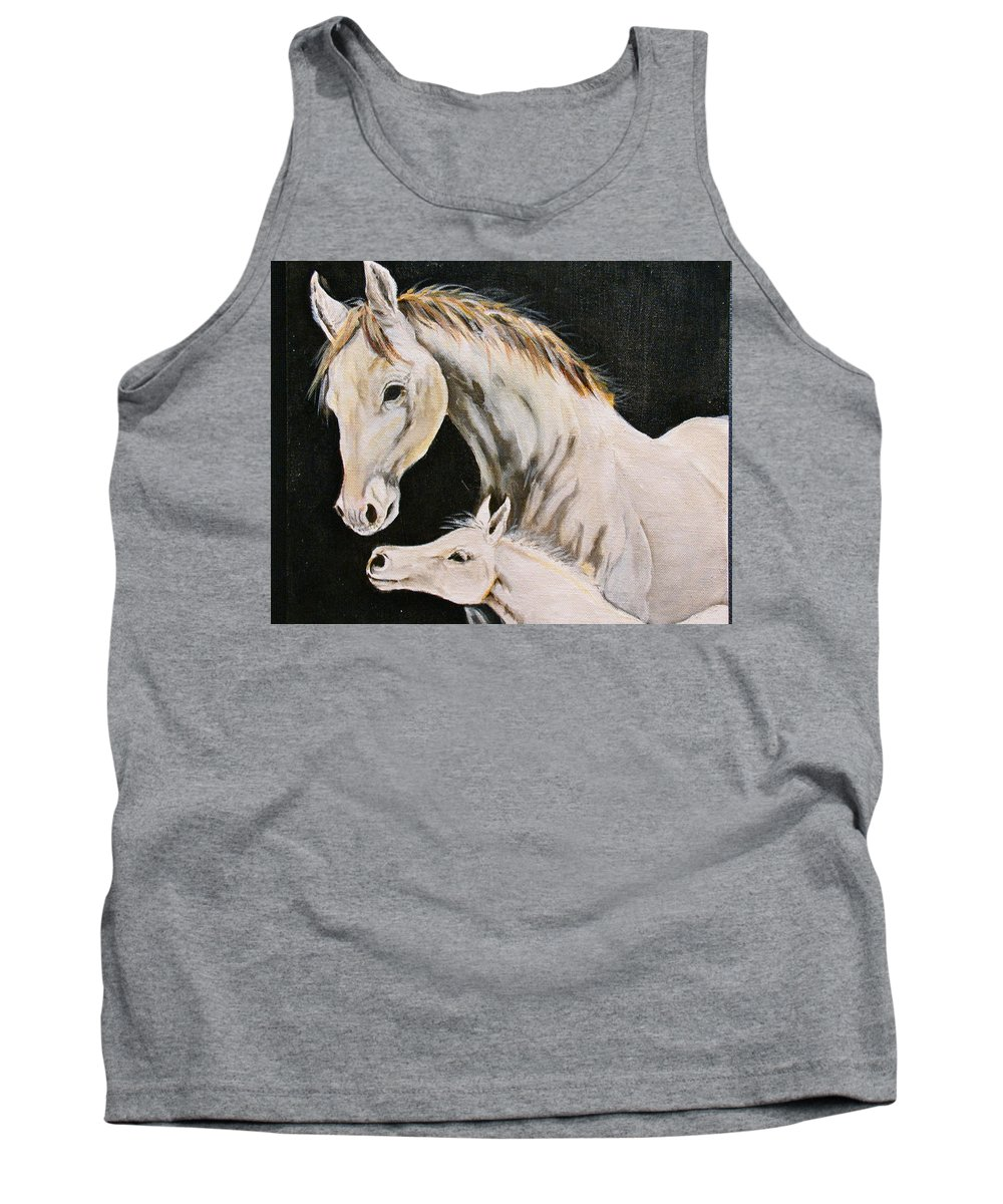Horses Tank Top featuring the painting Love Story Part 3 by Donna Steward