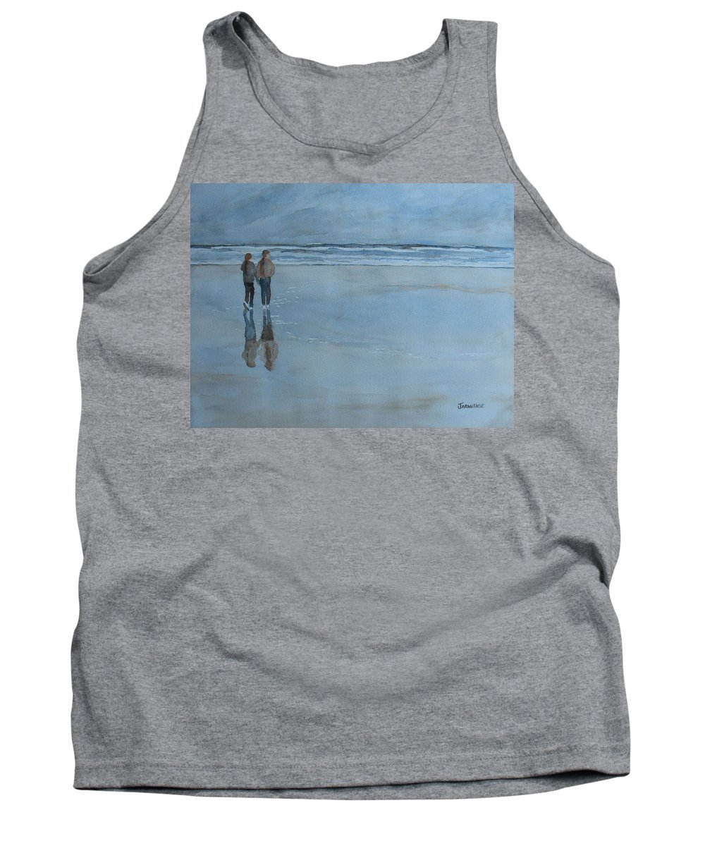 Girls Tank Top featuring the painting Low Tide At Agate Beach by Jenny Armitage