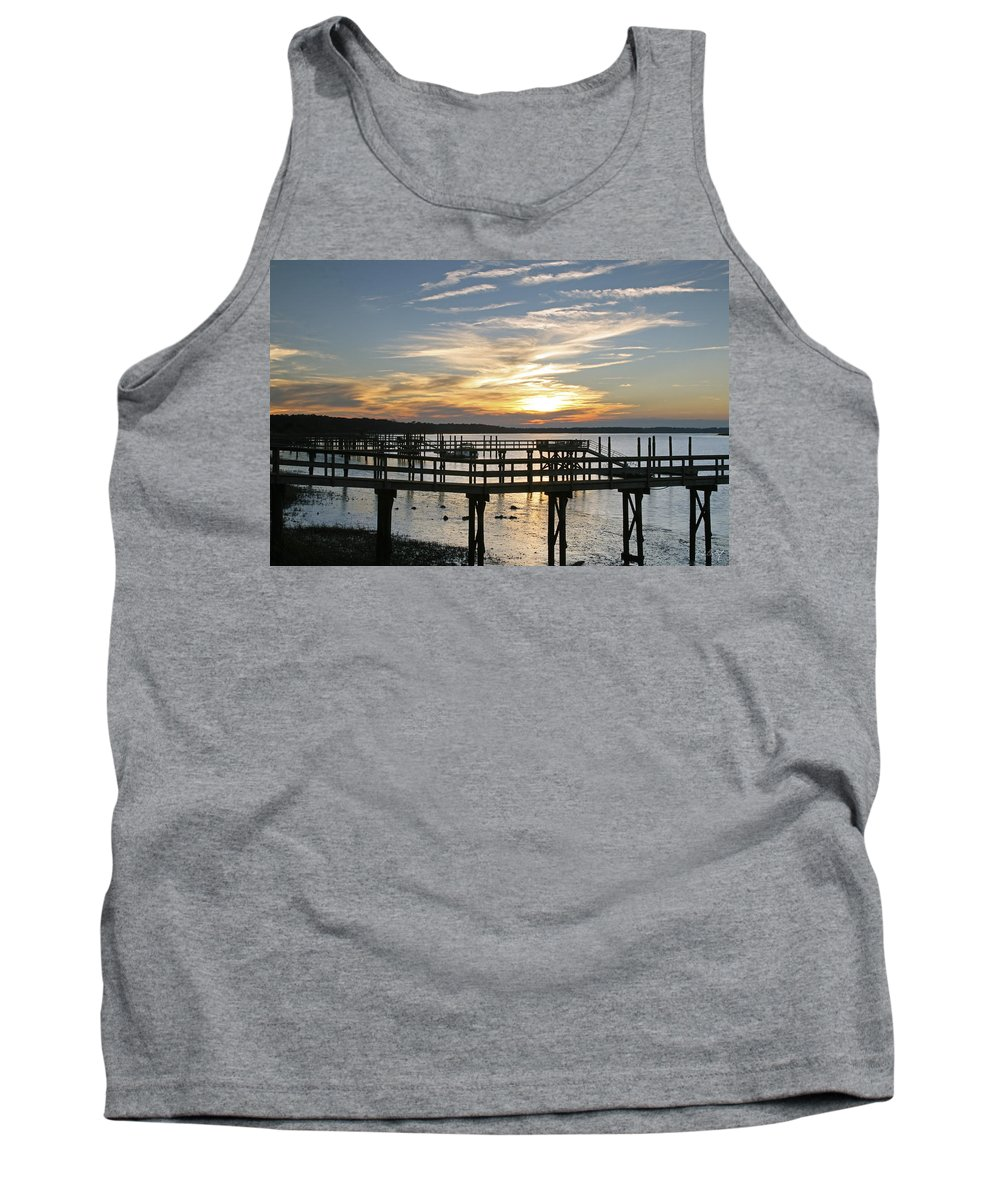 Sunset Tank Top featuring the photograph Low Tide by Phill Doherty