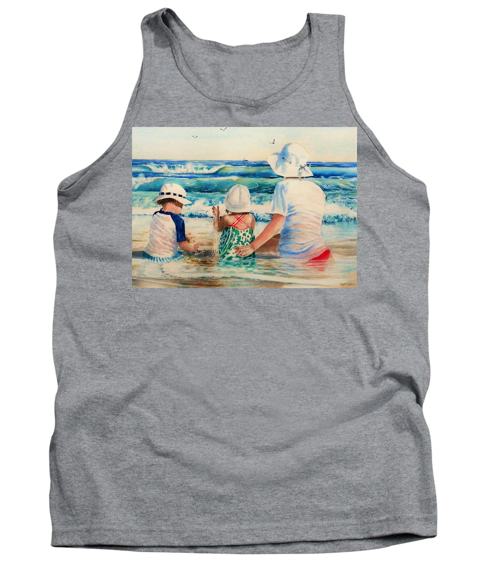Beach Tank Top featuring the painting Low Tide by Tom Harris