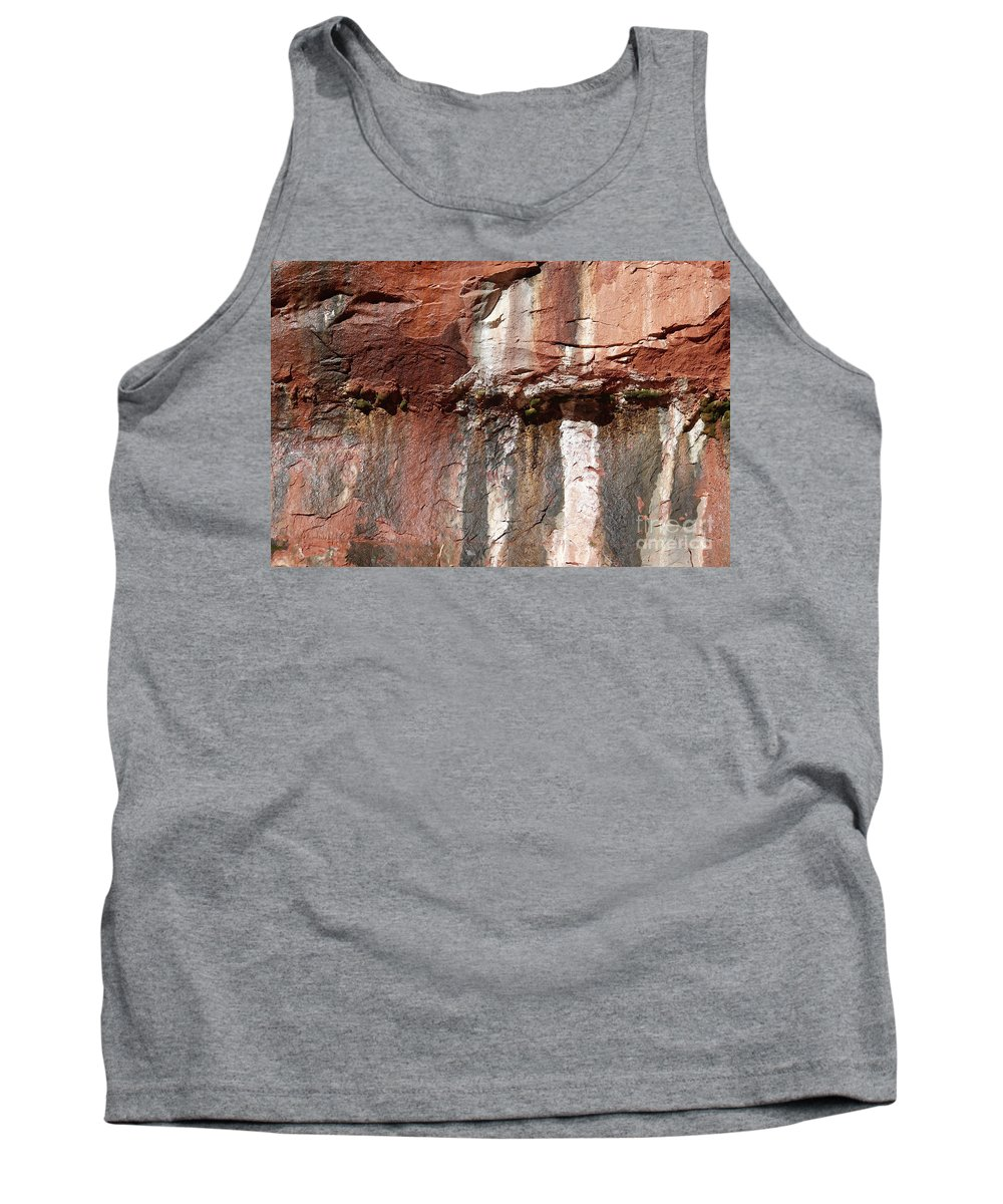 Utah Tank Top featuring the photograph Lower Emerald Pool Rock-zion National Park by PJ Boylan