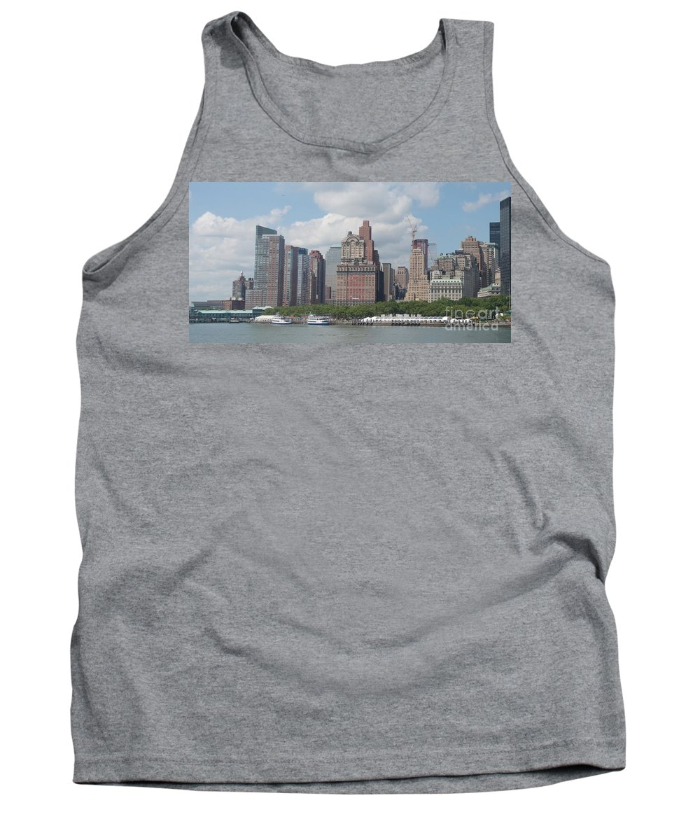 New York Tank Top featuring the photograph Lower Manhattan Panorama by Thomas Marchessault