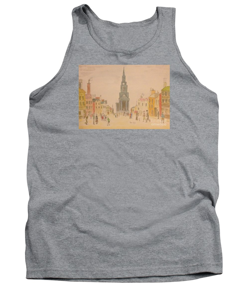 English Art Tank Top featuring the painting Lowry And Shadow Of Japan by Sawako Utsumi