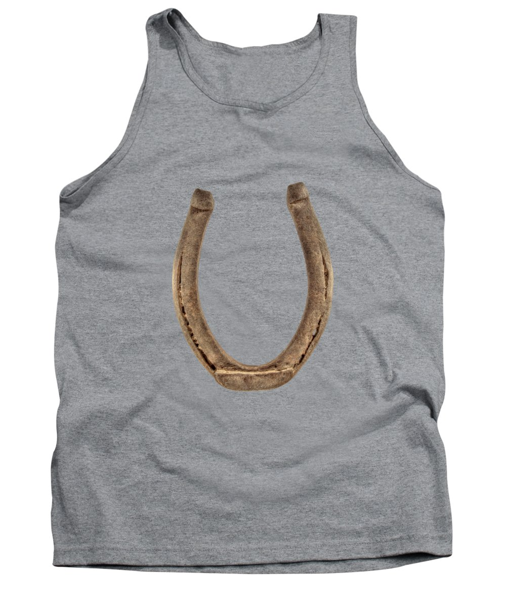 Iron Tank Top featuring the photograph Lucky Horseshoe by YoPedro