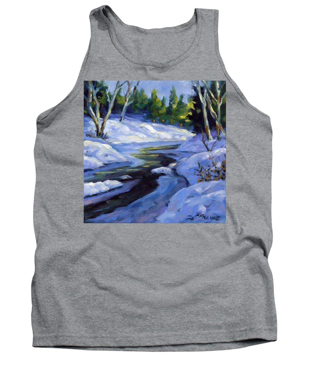 Art Tank Top featuring the painting Luminous Snow by Richard T Pranke