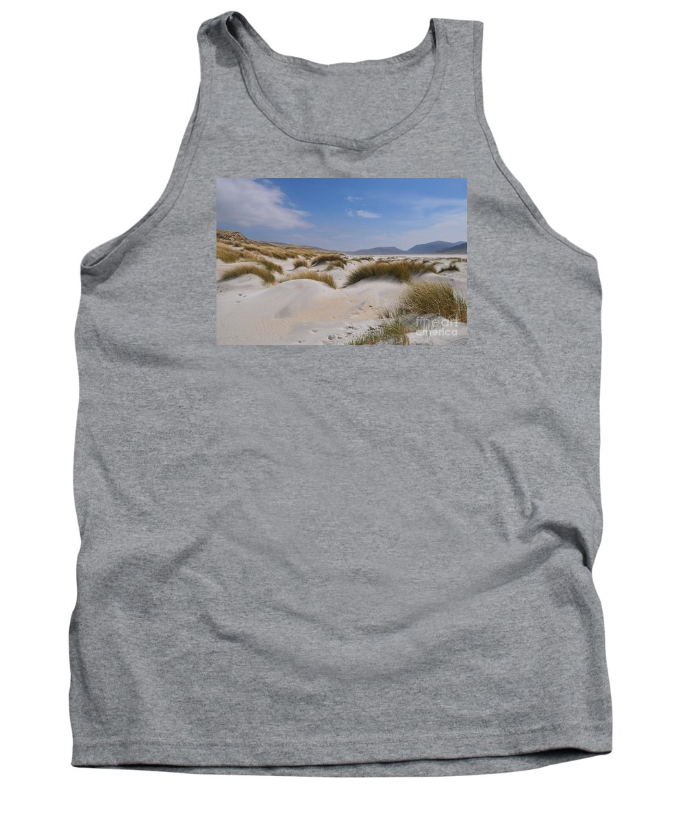 Luskentyre Beach Tank Top featuring the photograph Luskentyre Sand Dunes by Smart Aviation