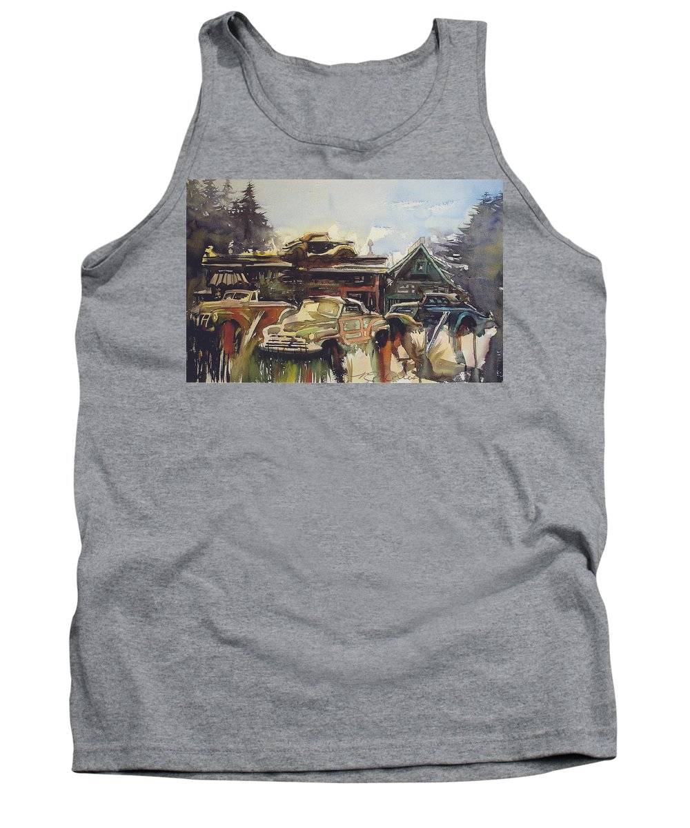 Fords Tank Top featuring the painting Lytton Station 16 by Ron Morrison