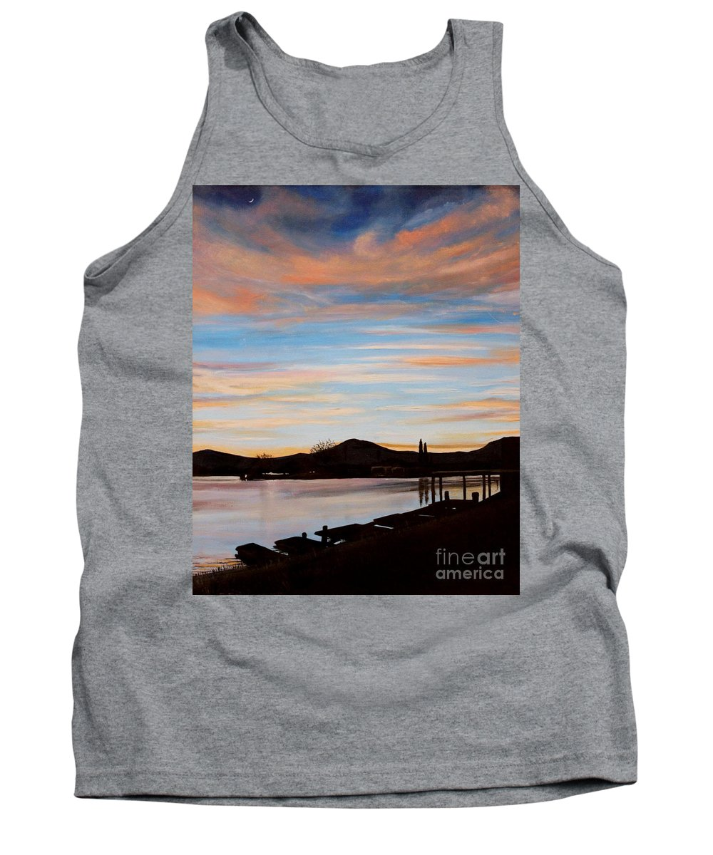 Landscape Tank Top featuring the painting Magic by Elizabeth Robinette Tyndall