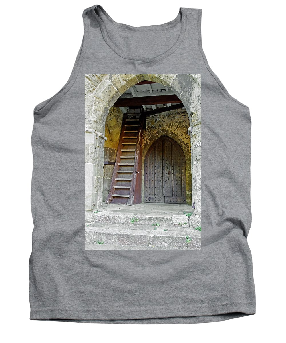Isle Of Wight Tank Top featuring the photograph Main Entrance To St Mary's Church At Brading by Rod Johnson