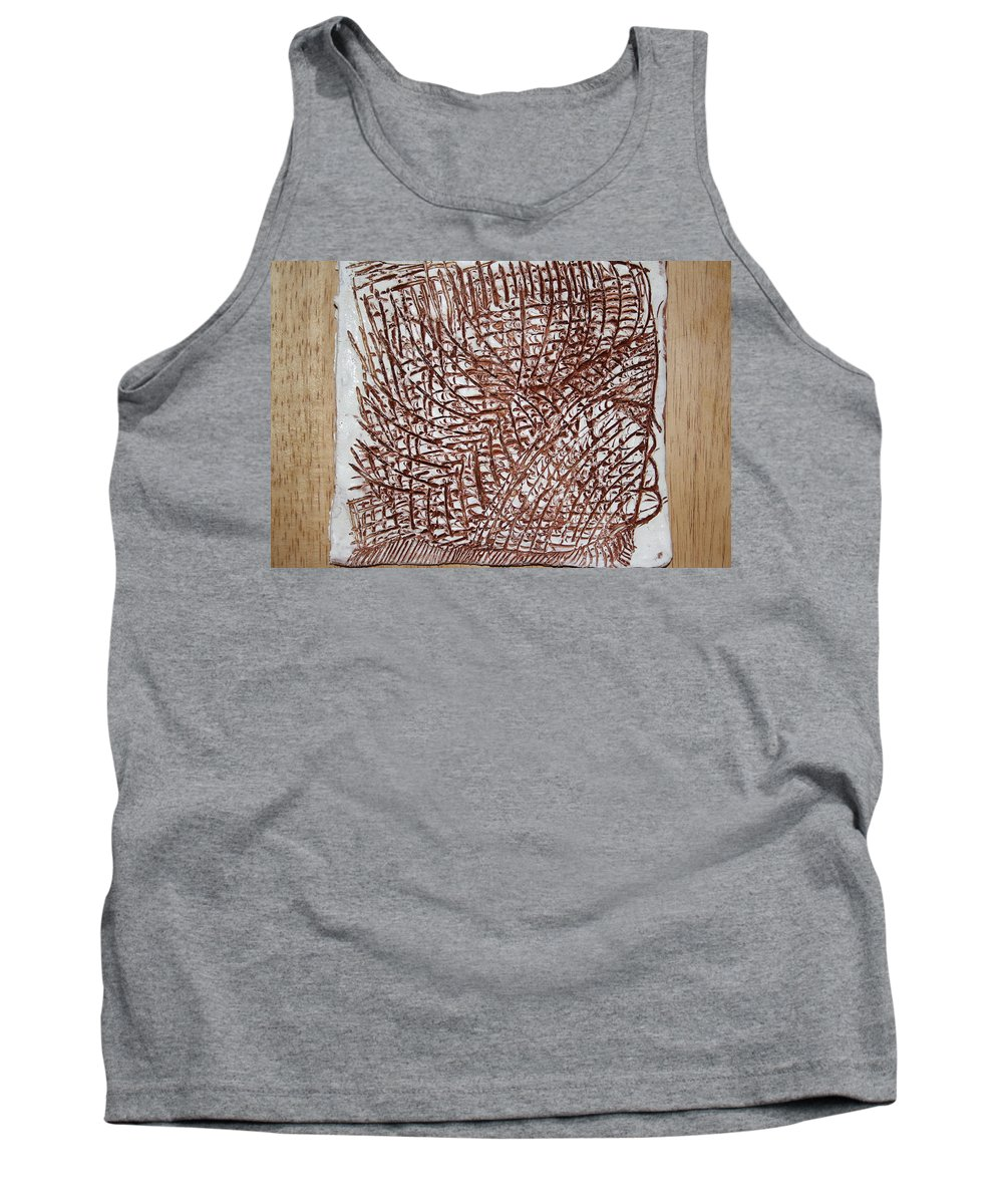 Jesus Tank Top featuring the ceramic art Malaika's Sleep - Tile by Gloria Ssali