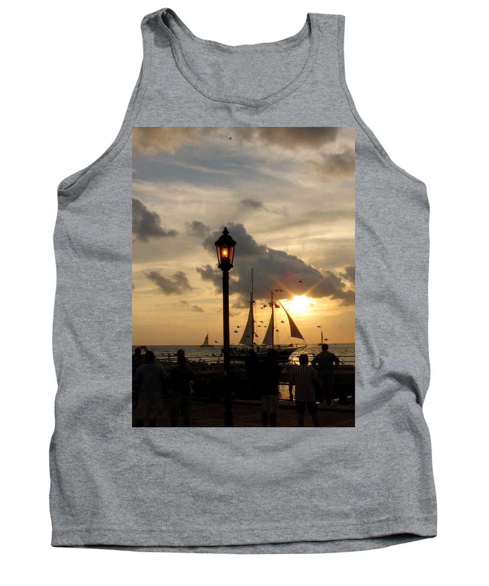 Photography Tank Top featuring the photograph Mallory Square Key West by Susanne Van Hulst
