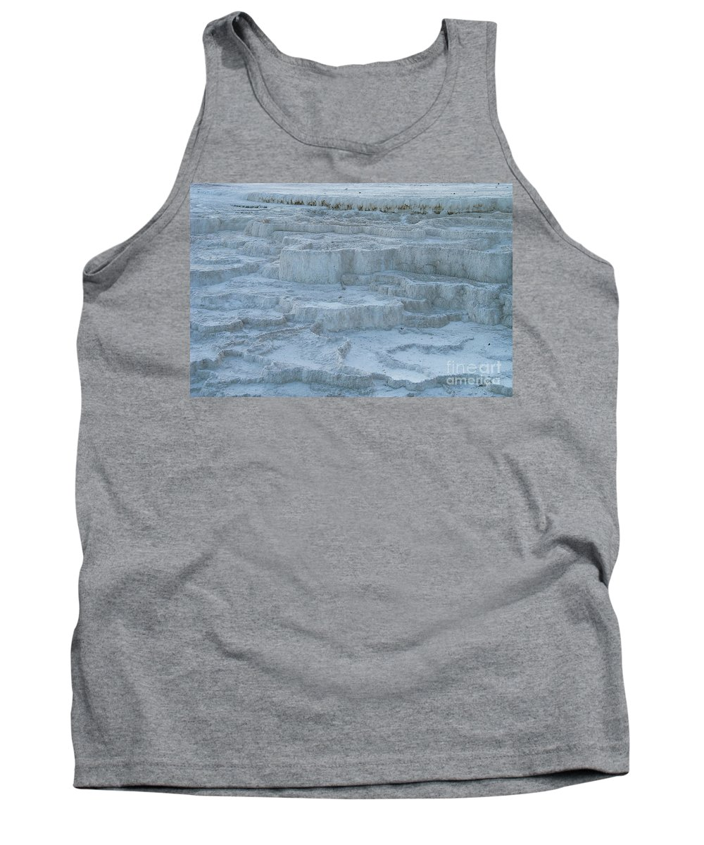 Mammoth Hot Springs Tank Top featuring the photograph Mammoth Hot Springs Travertine Terraces One by Bob Phillips