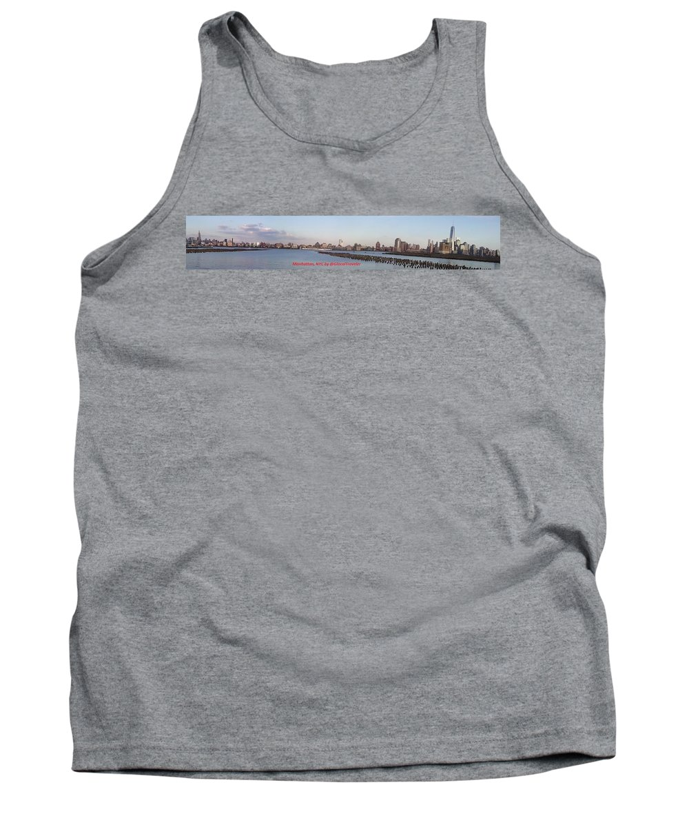 Manhattan New York City Hudson River Waterfront Skyline Landscape Tank Top featuring the photograph Manhattan, Nyc Waterfront Skyline by Glocal Traveler