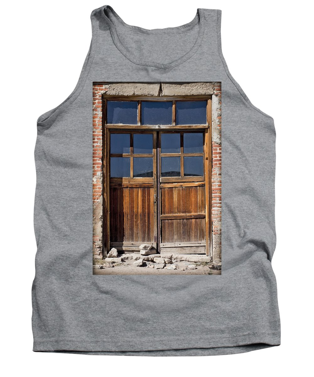 Old Wood Door Tank Top featuring the photograph Many Textures by Kelley King