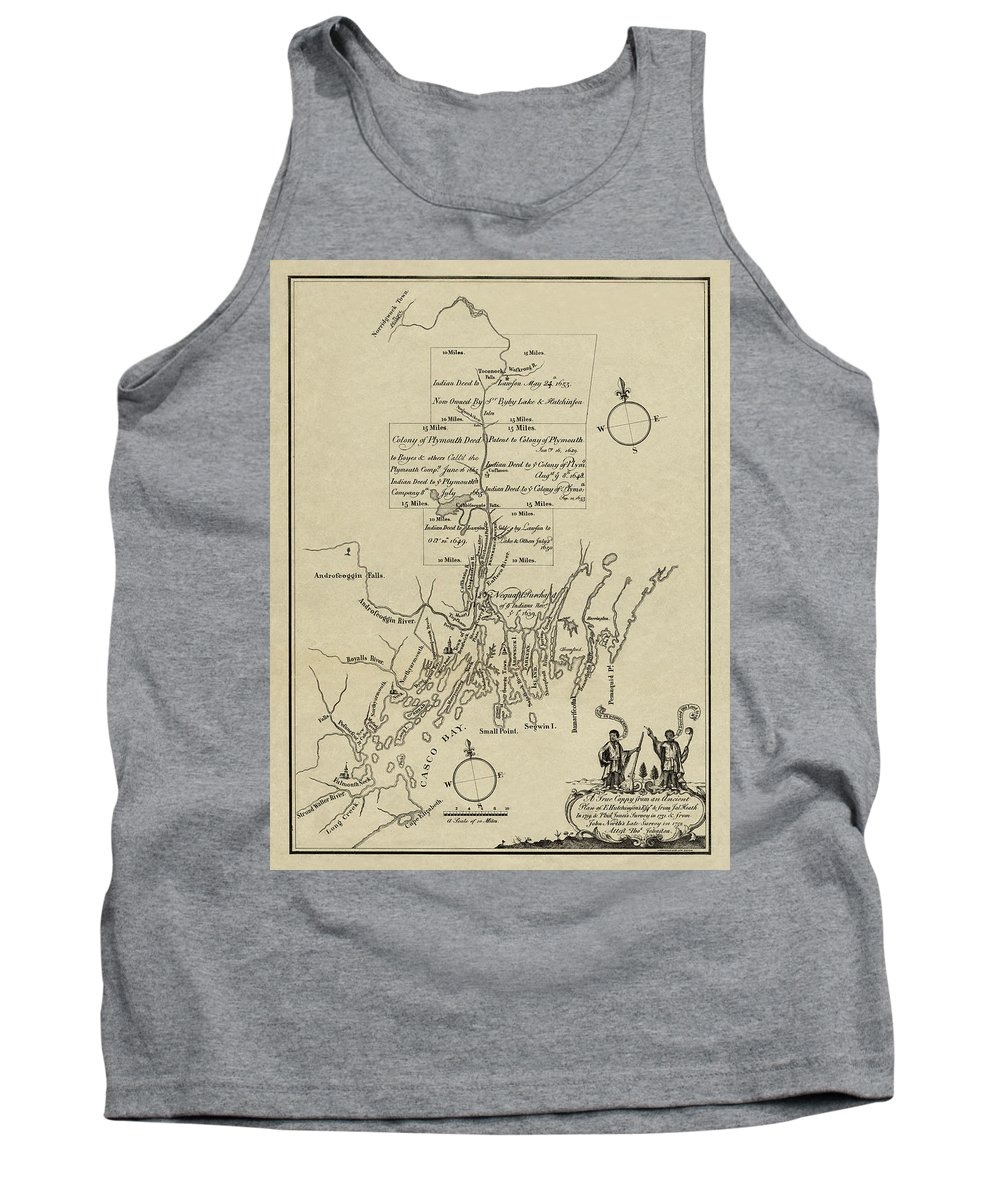Map Of Plymouth Tank Top featuring the photograph Map Of Plymouth by Andrew Fare