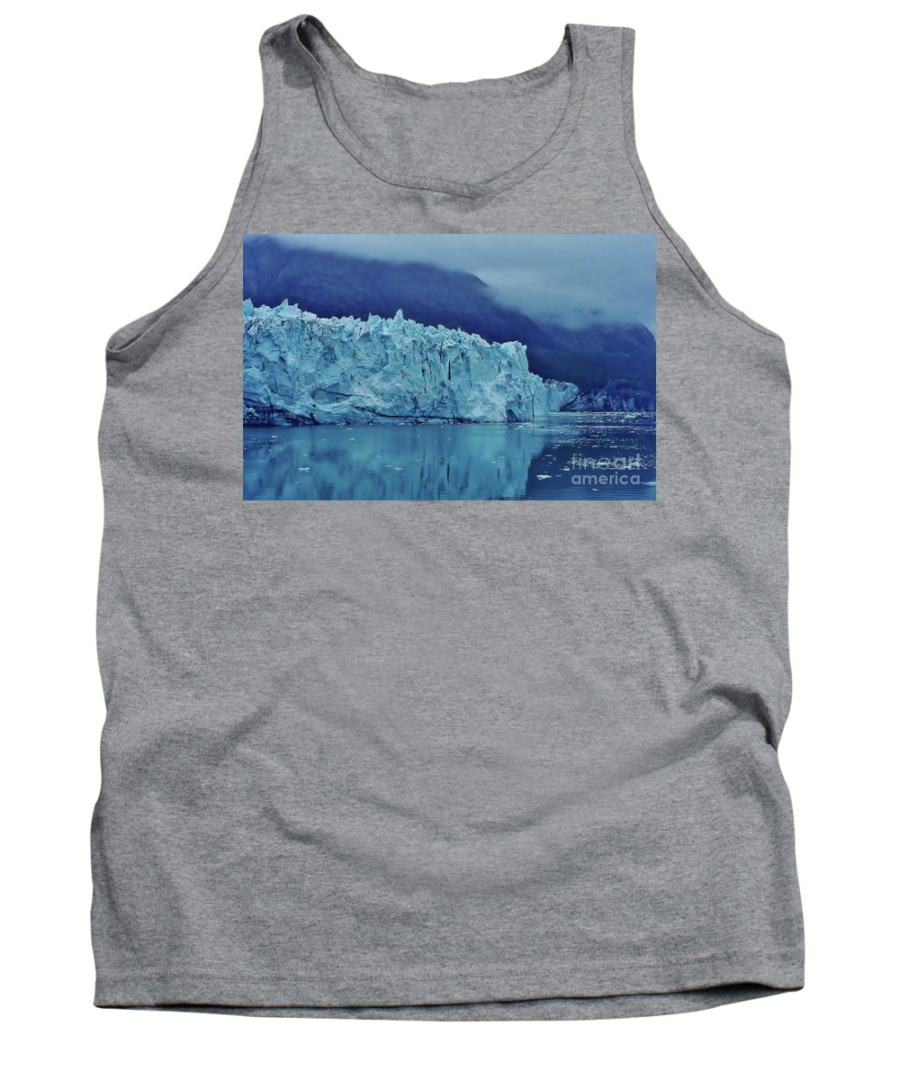 Glacier Tank Top featuring the photograph Margerie Glacier Beauty by D Hackett