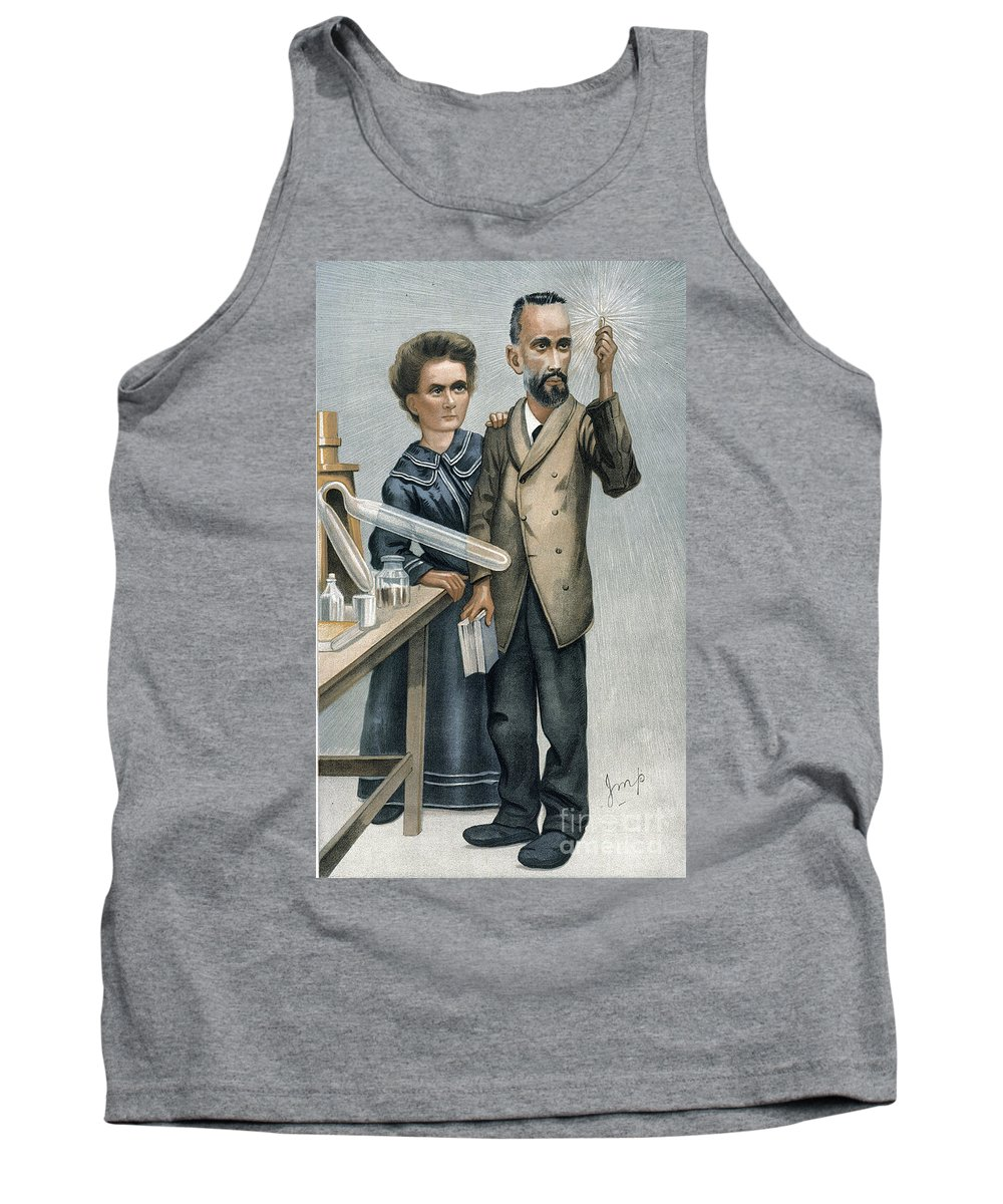 1904 Tank Top featuring the photograph Marie And Pierre Curie by Granger