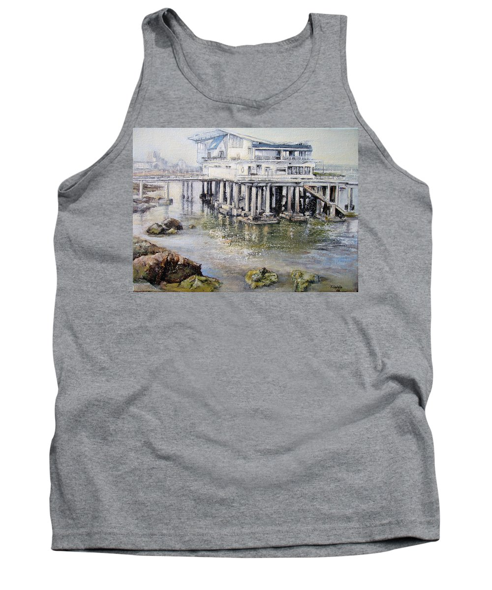 Maritim Tank Top featuring the painting Maritim Club Castro Urdiales by Tomas Castano