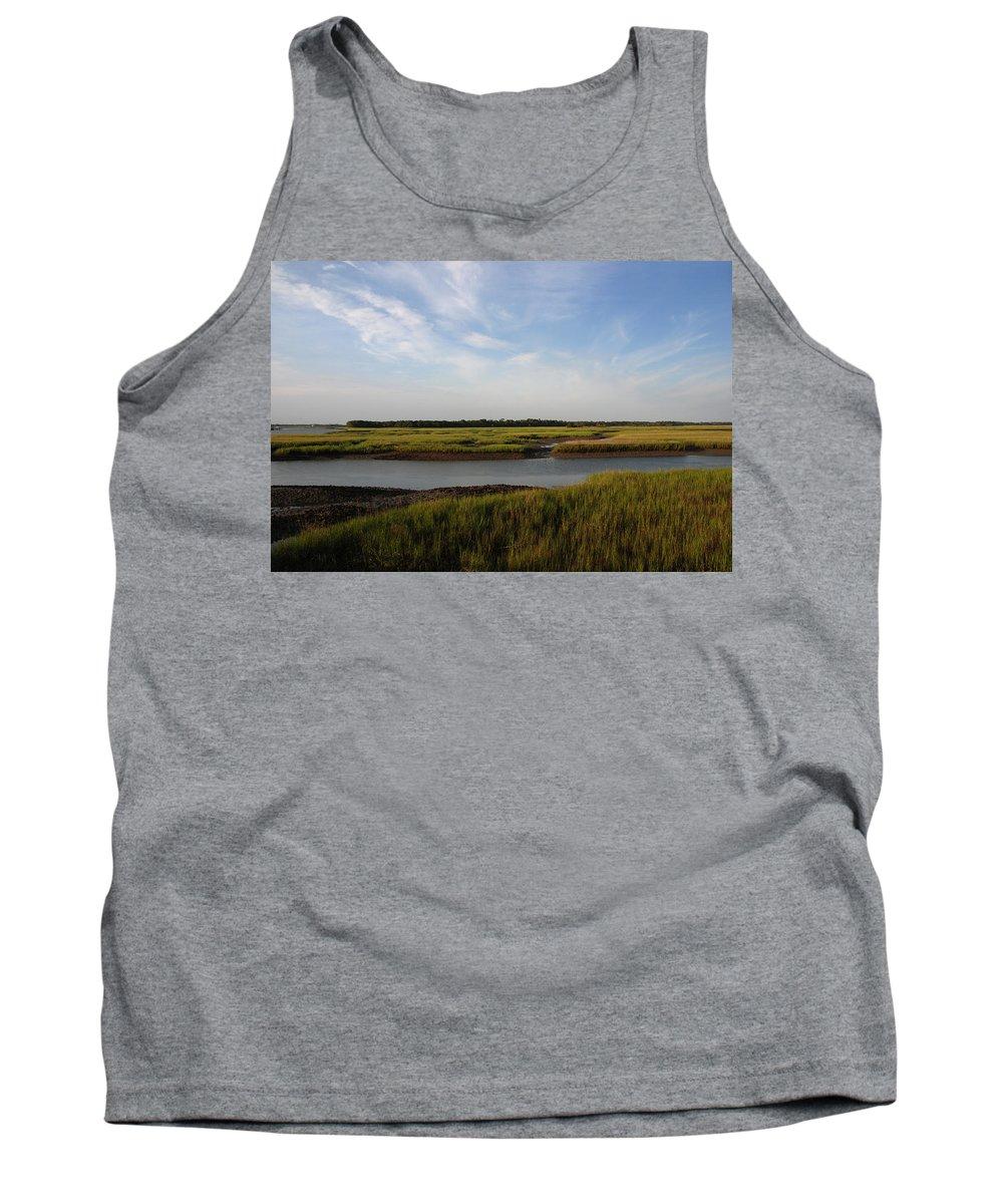 Photography Tank Top featuring the photograph Marsh Scene Charleston Sc by Susanne Van Hulst