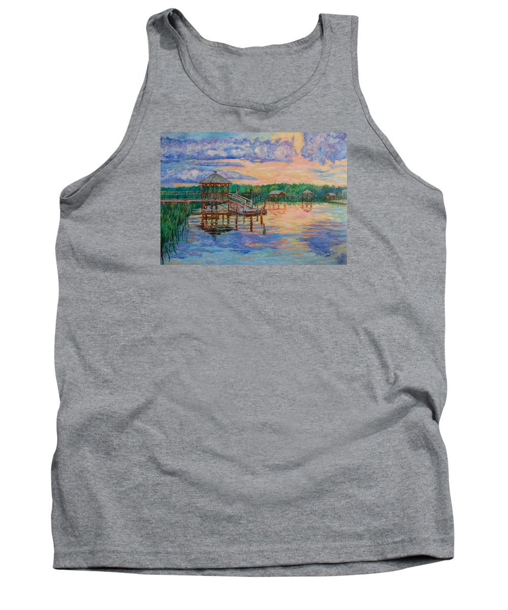 Landscape Tank Top featuring the painting Marsh View at Pawleys Island by Kendall Kessler