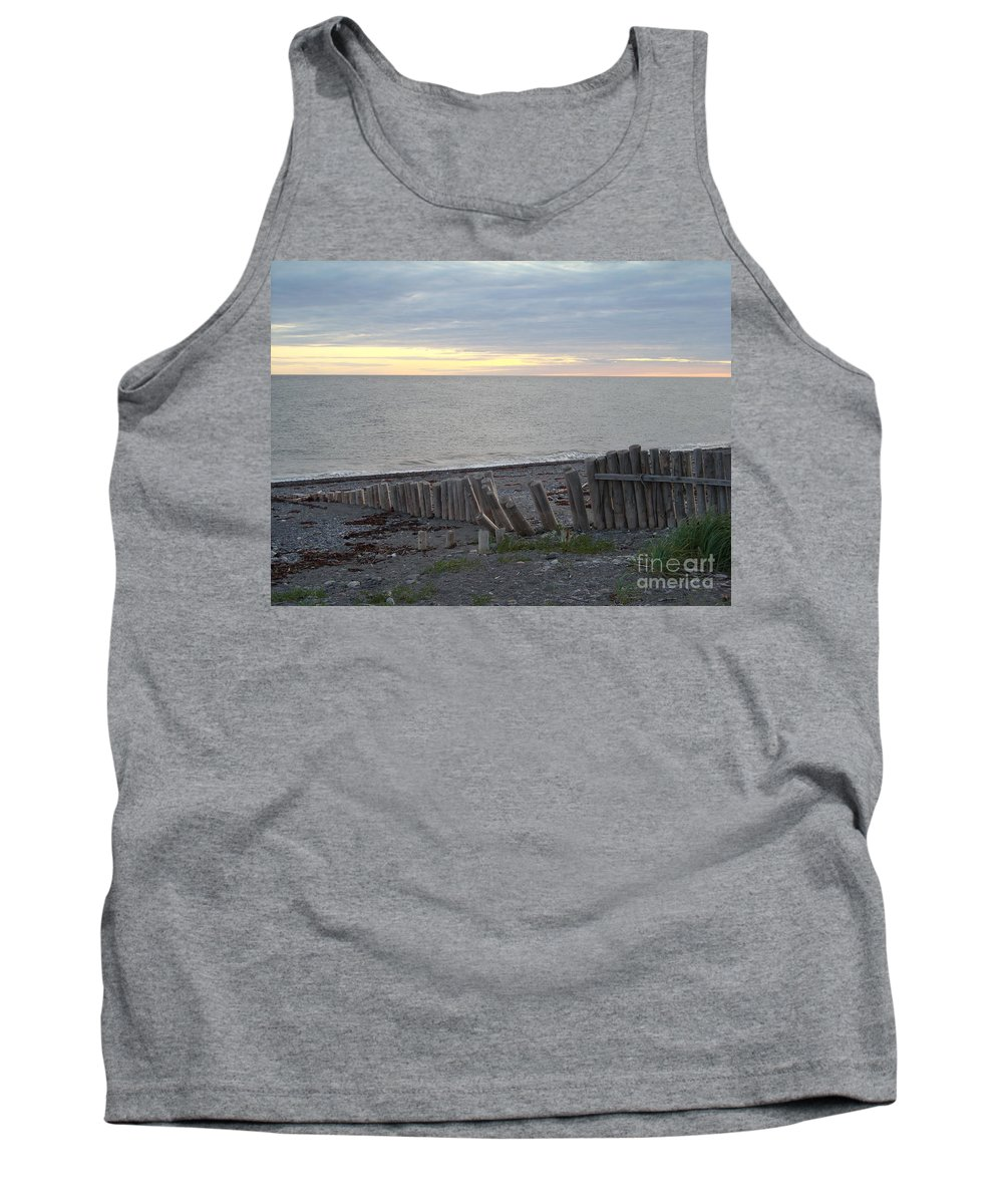 Seascape Tank Top featuring the photograph Matane In The Morning... by Line Gagne