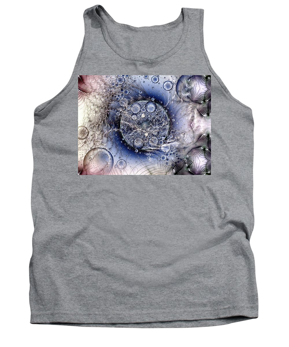 Abstract Tank Top featuring the digital art Matter From Another Perspective by Casey Kotas
